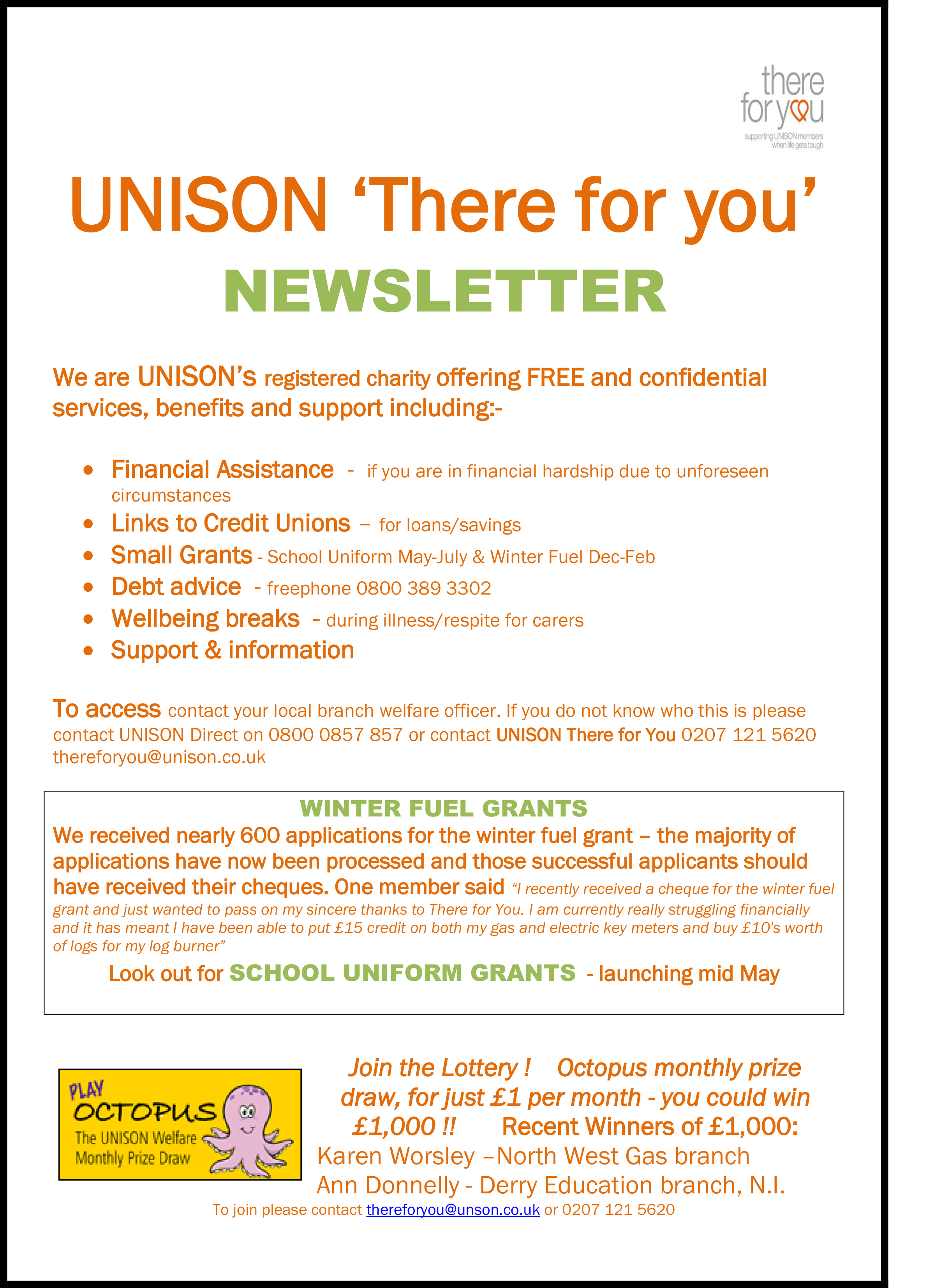 UNISON-Welfare-Newsletter-april-2016-1