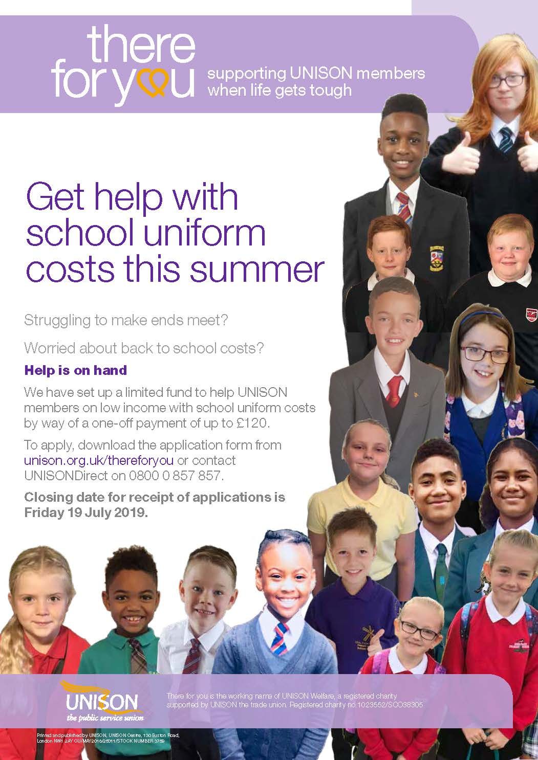 school uniform poster