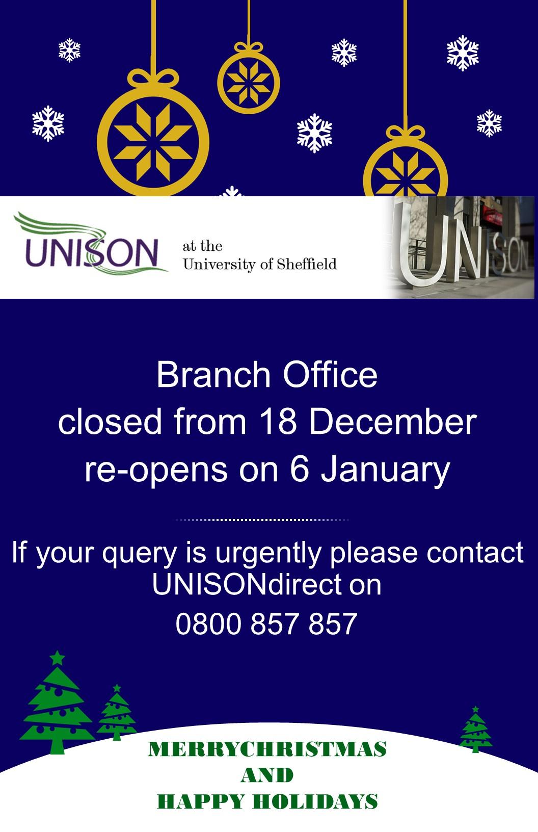 Office closure dates